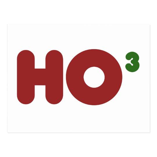 Ho 3 Nerdy funny christmas Postcard