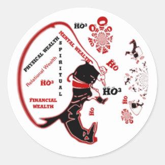 HO³ Black Santa Special Wealth Xmas To Do.png Classic Round Sticker