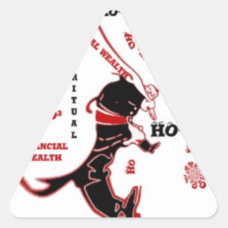 HO³ Black Santa Special Wealth Xmas To Do.png Triangle Sticker