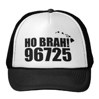 Ho Brah!...,Hawaii Zip Code Hats 96725 Holualoa