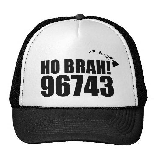 Ho Brah!...,Hawaii Zip Code Hats 96743 Kawaihae
