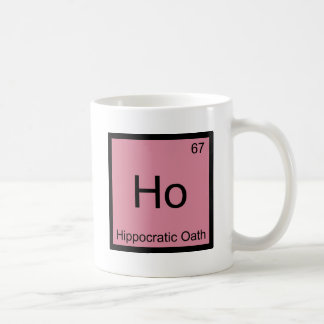 Ho - camiseta del símbolo del elemento de la quími taza
