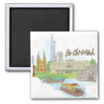 Ho Chi Minh 2 Inch Square Magnet