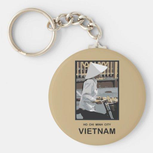 Ho Chi Minh City Vietnam Llavero Redondo Tipo Pin