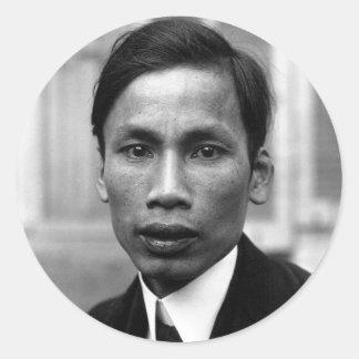 Ho Chi Minh Nguyen Ai Quoc Portrait 1921 Classic Round Sticker