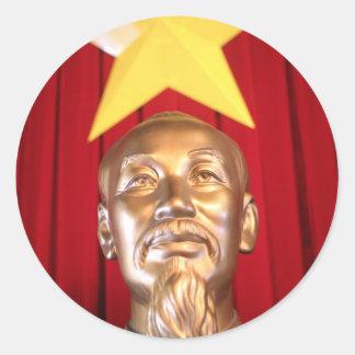 Ho Chi Minh Vietnamese leader Round Stickers