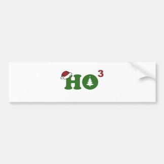 Ho Cubed Merry Christmas Bumper Sticker