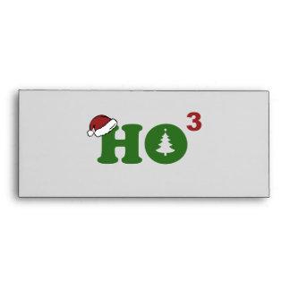 Ho Cubed Merry Christmas Envelope