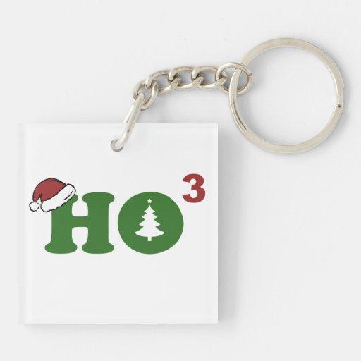 Ho Cubed Merry Christmas Acrylic Keychain
