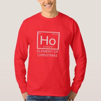 Ho Element Of Christmas Long Sleeve Unisex (red) T-Shirt