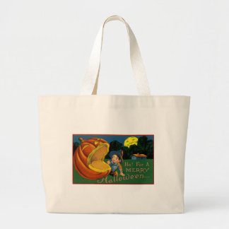 Ho! for  a Merry Halloween Large Tote Bag