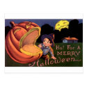 Ho! For A Merry Halloween Post Cards