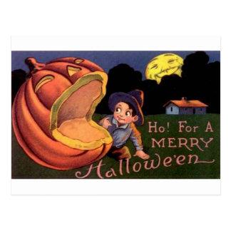 Ho!  For A Merry Halloween Postcard