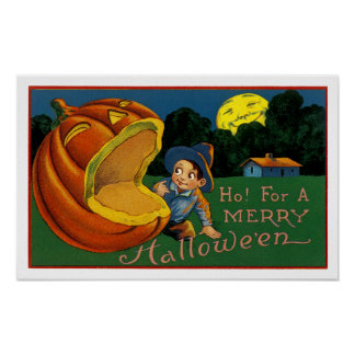 Ho! For a Merry Halloween Poster