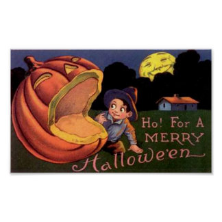 Ho!  For A Merry Halloween Print