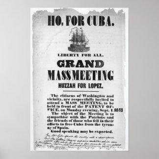Ho, for Cuba Poster