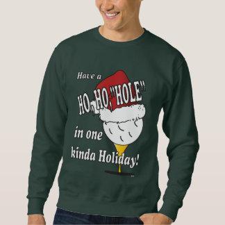 Ho Ho agujero en el navidad uno Suéter