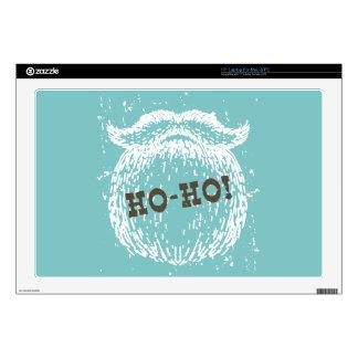 "Ho-Ho Christmas Holiday Santa Noel Decal For 17"" Laptop"