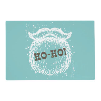 Ho-Ho Christmas Holiday Santa Noel Placemat