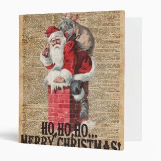 "Ho, Ho feliz arte de Chirstmas Papá Noel Carpeta 1"""