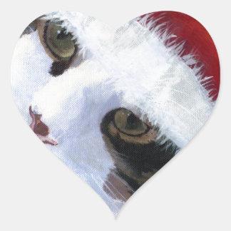 Ho Ho Harley Cat Heart Sticker