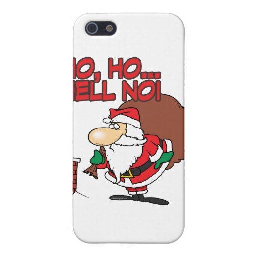 ho ho hell no santa chimney dilemma case for iPhone 5