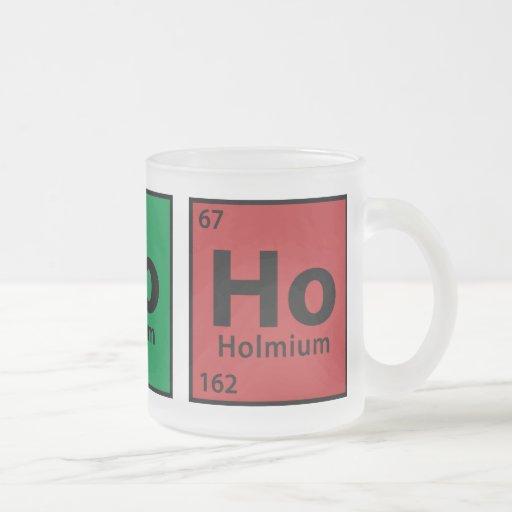 Ho, Ho, Ho 10 Oz Frosted Glass Coffee Mug