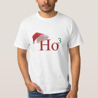 Ho Ho Ho 3 Christmas to the 3rd power Mens Tshirt