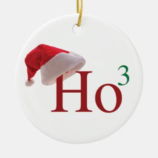 Ho Ho Ho 3 Felices Navidad al 3ro poder Adorno Navideño Redondo De Cerámica