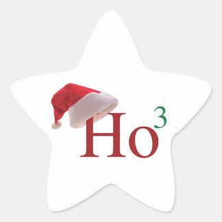 Ho Ho Ho 3 Felices Navidad al 3ro poder Pegatina En Forma De Estrella
