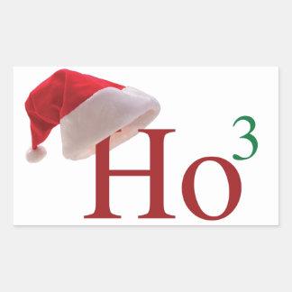 Ho Ho Ho 3 Felices Navidad al 3ro poder Pegatina Rectangular