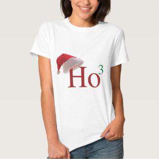 Ho Ho Ho 3 Felices Navidad al 3ro poder Playeras