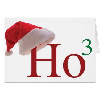 Ho Ho Ho 3 Felices Navidad al 3ro poder Tarjeta De Felicitación