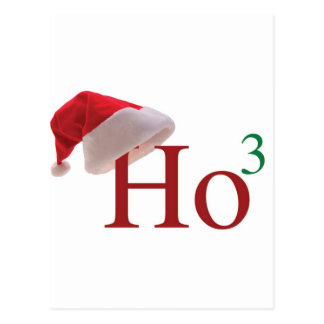 Ho Ho Ho 3 Felices Navidad al 3ro poder Tarjetas Postales