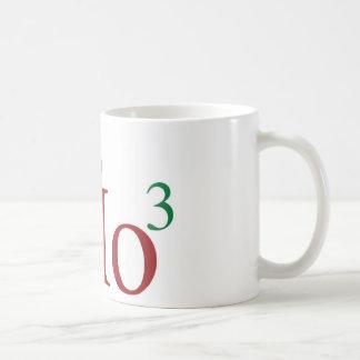 Ho Ho Ho 3 Merry Christmas to the 3rd power Coffee Mug
