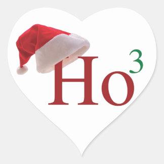 Ho Ho Ho 3 Merry Christmas to the 3rd power Heart Sticker