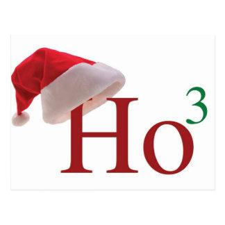 Ho Ho Ho 3 Merry Christmas to the 3rd power Postcard