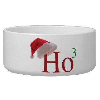 Ho Ho Ho 3 navidad al 3ro cuenco del perro del pod Comedero Para Mascota