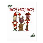¡Ho! ¡Ho! ¡Ho! a partir de 3 navidad Nuts Tarjeta Postal