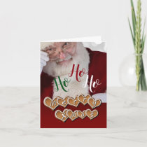 Ho Ho Ho, A Santa Christmas Holiday Card