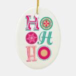 ¡Ho-ho-ho! Adorno Ovalado De Cerámica