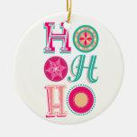 ¡Ho-ho-ho! Adorno Redondo De Cerámica