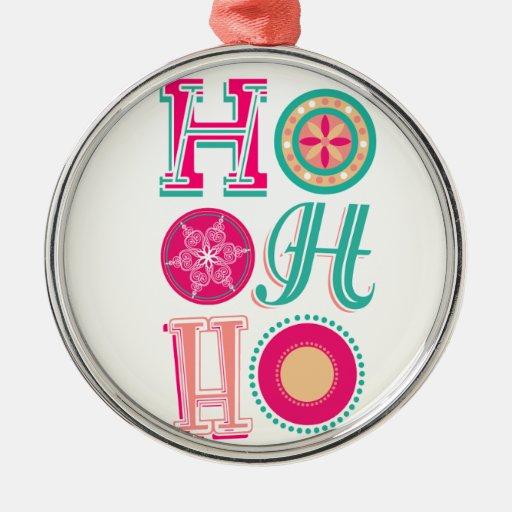 ¡Ho-ho-ho! Adorno Redondo Plateado