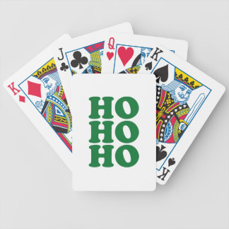 HO HO HO BICYCLE PLAYING CARDS
