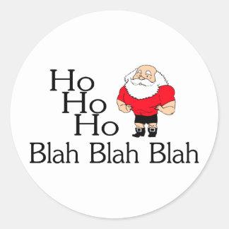 Ho Ho Ho Blah Blah Blah Christmas Classic Round Sticker