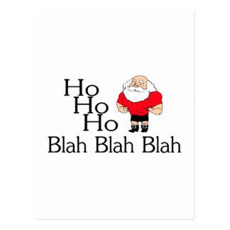 Ho Ho Ho Blah Blah Blah Christmas Postcard