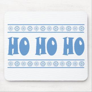 HO HO HO Blue Mouse Pad