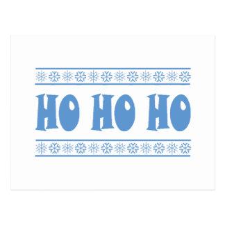 HO HO HO Blue Postcard