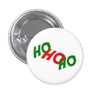 Ho Ho Ho botón Pin Redondo De 1 Pulgada