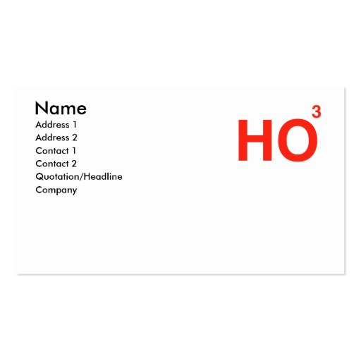 HO HO HO Double-Sided STANDARD BUSINESS CARDS (Pack OF 100)